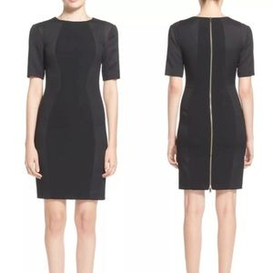 Ted Baker | Black Abrial Mesh Panel Bodycon Dress